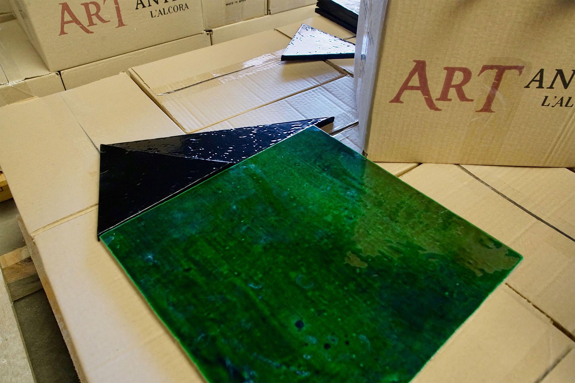 azulejos presonaizados colores azul verde - Azulejos Personalizados