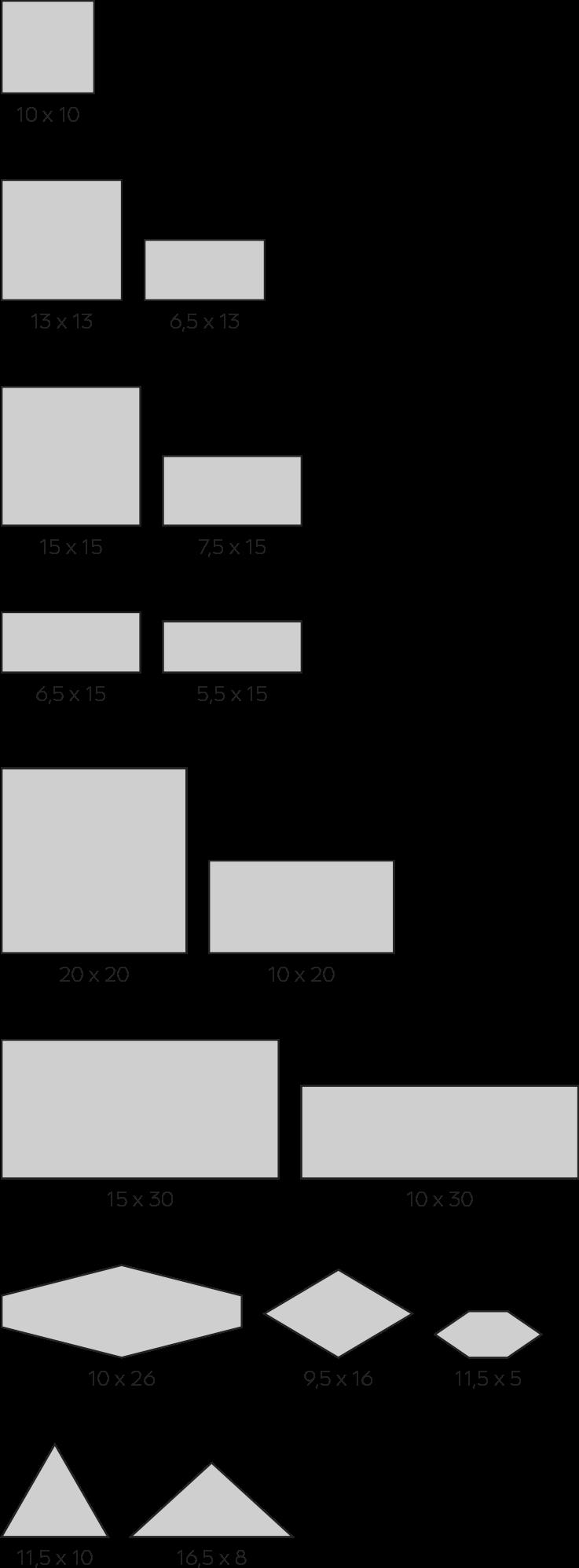 formatos movil - Azulejos cerámicos