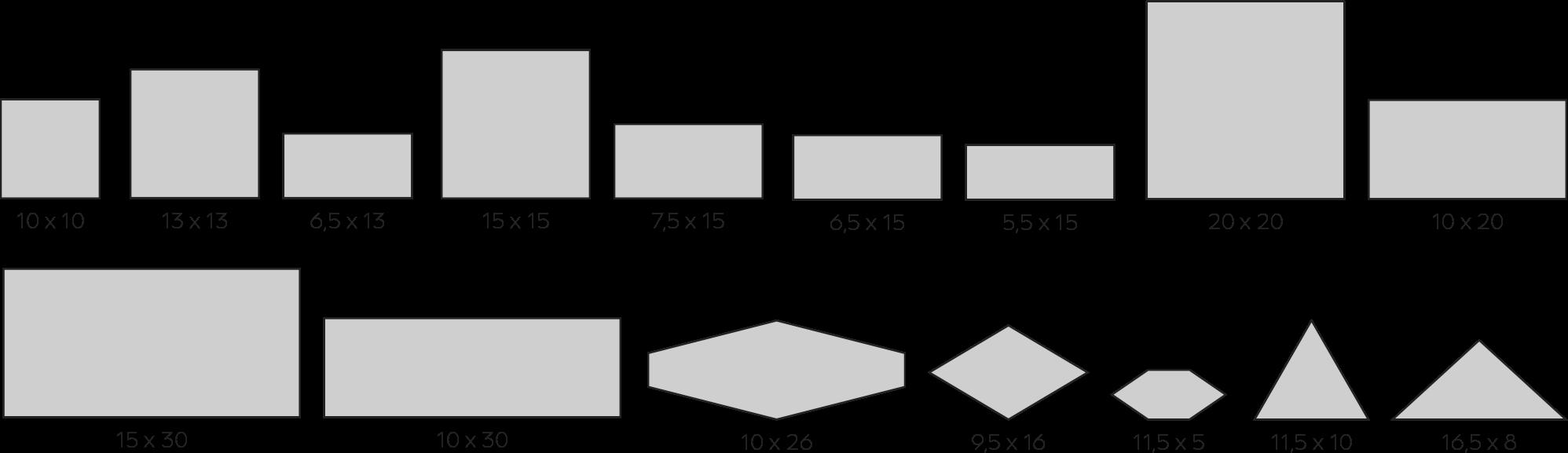 formatos - Azulejos cerámicos